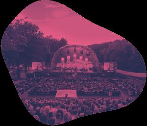 Jazz am See, die Open-Air-Bühne